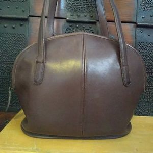 Coach Asheville Bowler Brown Leather Purse